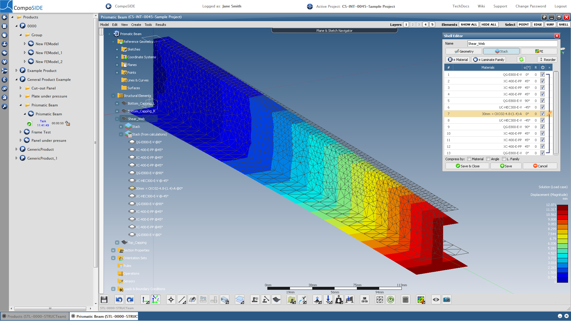 Extrusion and 3D Modelling / FEA